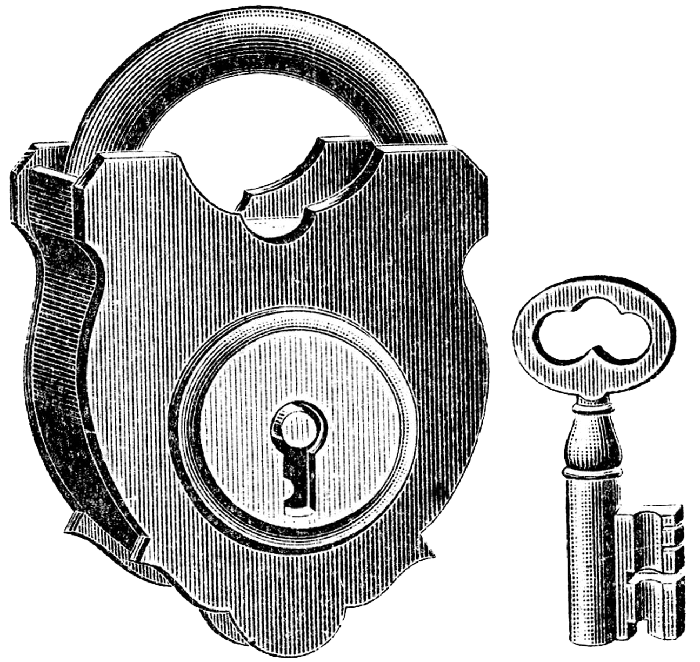 illustrated lock and key